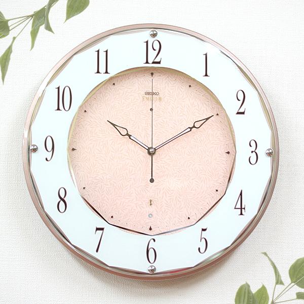 SEIKO セイコー EMBLEM 電波 掛け時計 HS524A