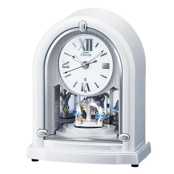 SEIKO セイコー EMBLEM 電波 置き時計 HW589W 白パール
