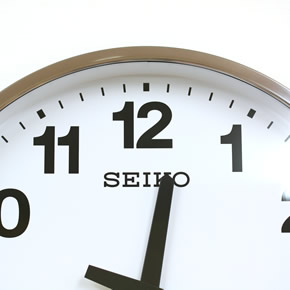 SEIKO セイコー 屋外用防雨型掛け時計【グリーン購入法適応商品】【KH411S】 文字盤
