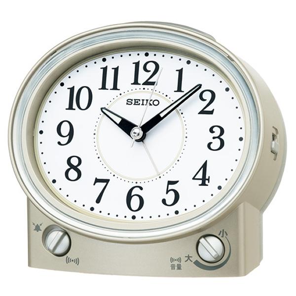 SEIKO セイコー スタンダード 目覚まし時計 KR892G 薄金色パール
