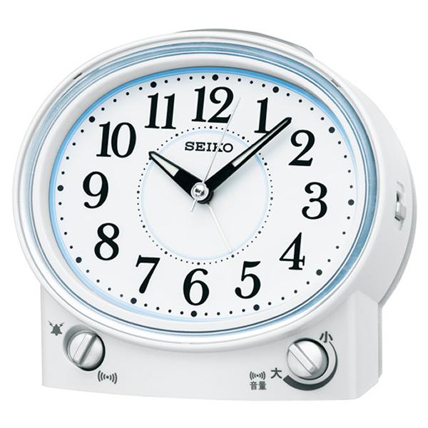 SEIKO セイコー スタンダード 目覚まし時計 KR892W 白パール
