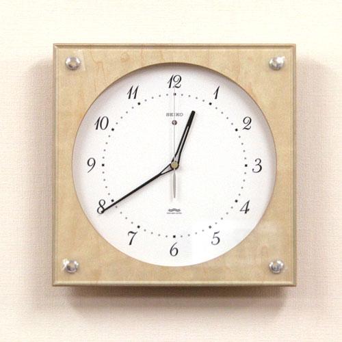 セイコー電波クロック「シンプル」シリーズスクエアタイプ SEIKO セイコー 電波掛け時計 【KS268B】