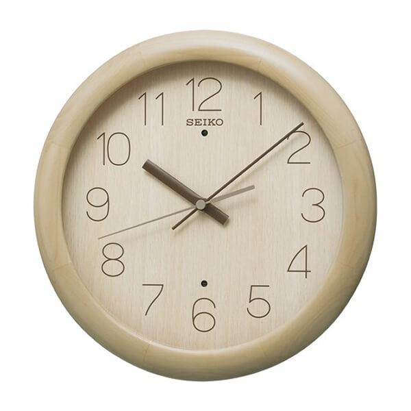 SEIKO セイコー ナチュラルスタイル 木製 電波 掛け時計 KX201A 薄茶