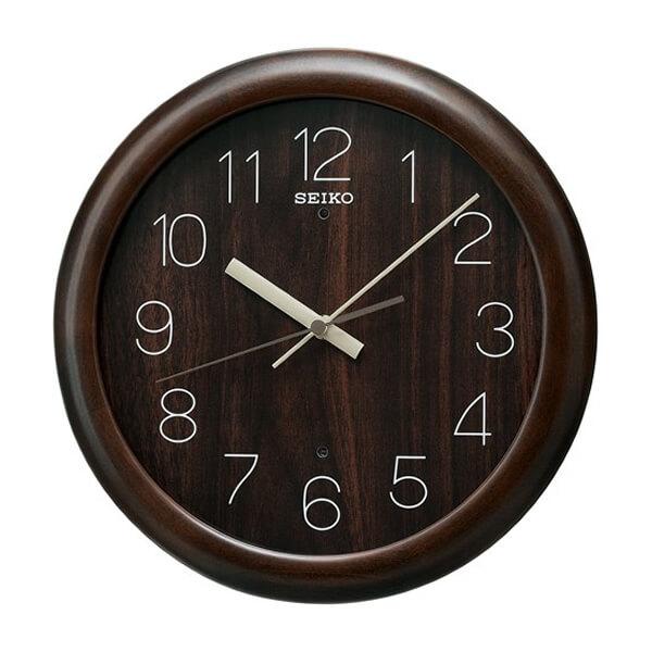 SEIKO セイコー ナチュラルスタイル 木製 電波 掛け時計 KX201B 濃茶