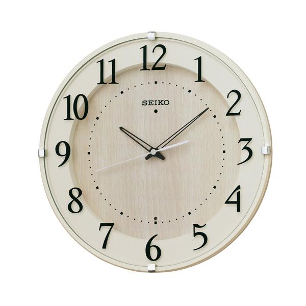 SEIKO セイコー ナチュラルスタイル 電波 掛け時計 KX397A アイボリー