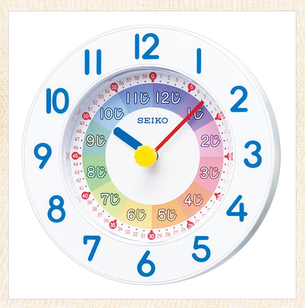 SEIKO セイコー 知育 掛け置き兼用時計 KX619W