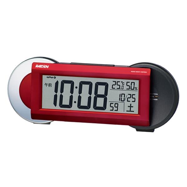 SEIKO セイコー PYXIS 大音量アラーム 電波 目覚まし時計 ライデン NR533R 赤メタリック