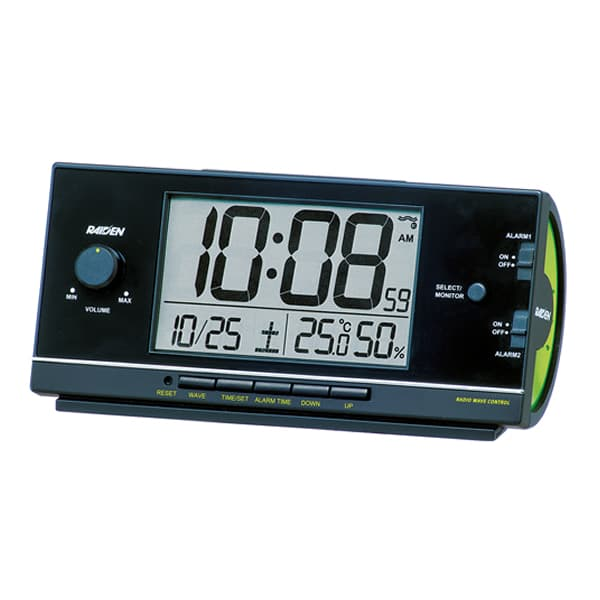 SEIKO セイコー PYXIS 大音量アラーム 電波 目覚まし時計 ライデン NR534K 黒