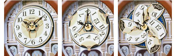 SEIKO セイコー 電波 からくり 掛け時計 RE574B パフォーマンス