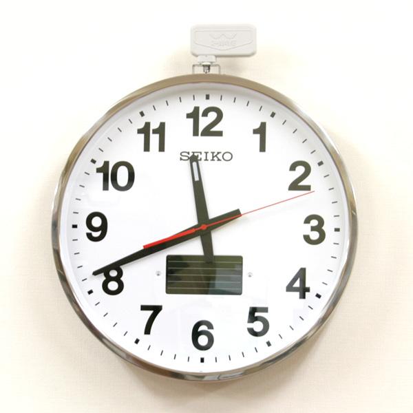 セイコー 屋外防雨型ソーラー電波壁掛け時計【SF211S】
