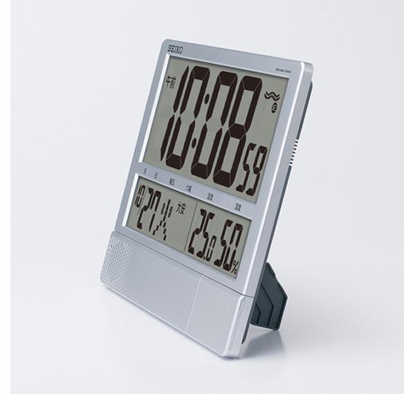 SEIKO セイコー デジタル 電波 掛け置き兼用プログラムクロック SQ434S 置いた状態
