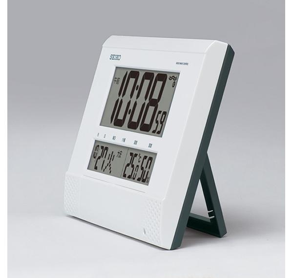 SEIKO セイコー 報時付き デジタル 電波 掛け置き兼用時計 SQ435W 置いた状態