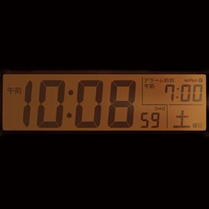 セイコー(SEIKO)デジタル電波クロック置き時計 SQ765W ライト
