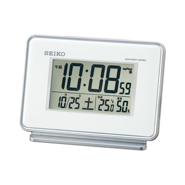 セイコー(SEIKO)温湿度表示付きデジタル電波クロック置き時計 SQ767W