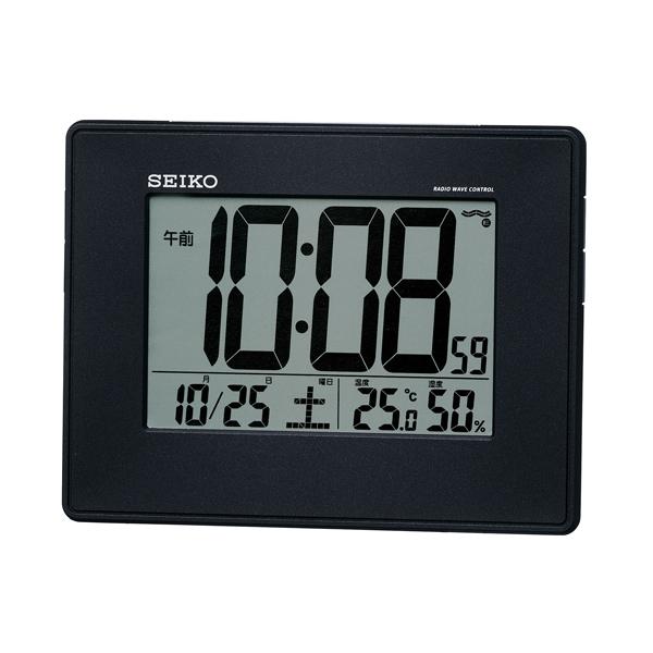 セイコー(SEIKO)温湿度表示付きデジタル電波クロック掛け置き時計 SQ770K